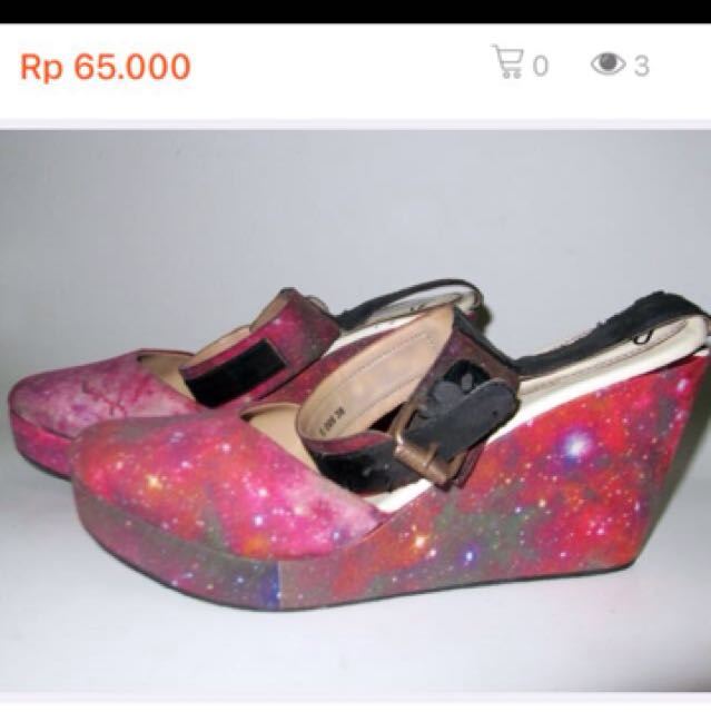 Joan Galaxy Nebula Wedges Shoes By I Wear Up Diana Rikasari