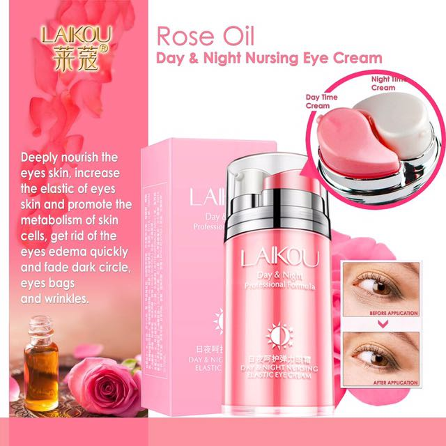 Laikou Rose Oil Day And Night Elastic Eye Cream