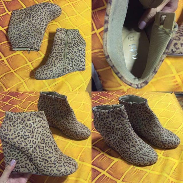 Leopard Rubi Wedges
