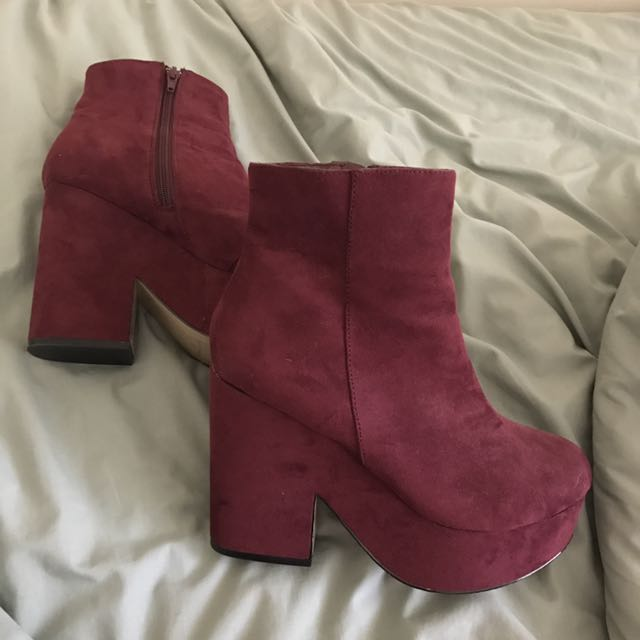London Rebel Platform Ankle Boots
