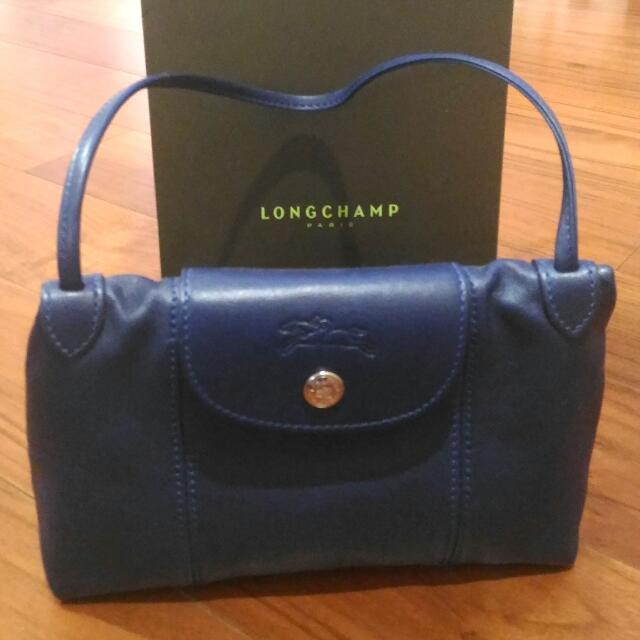 Longchamp小羊皮側背包
