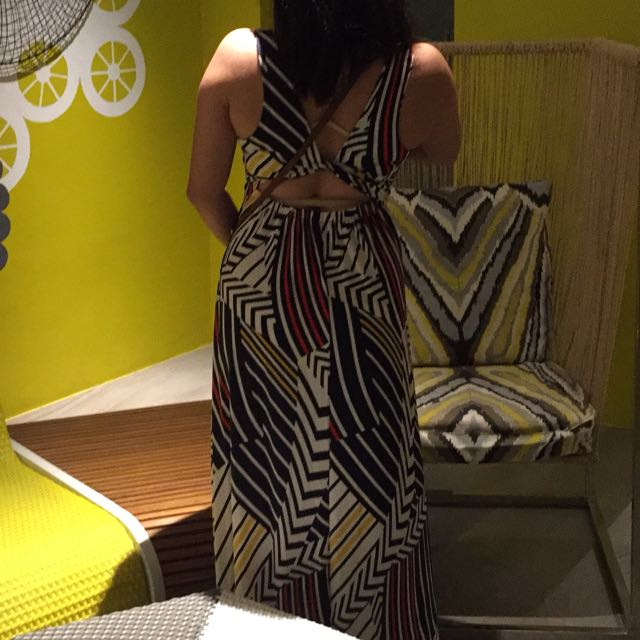 Mango Backless MAXI DRESS