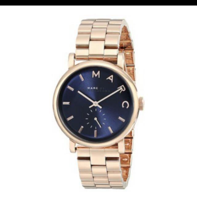 MBMJ藍底不銹鋼鍊錶
