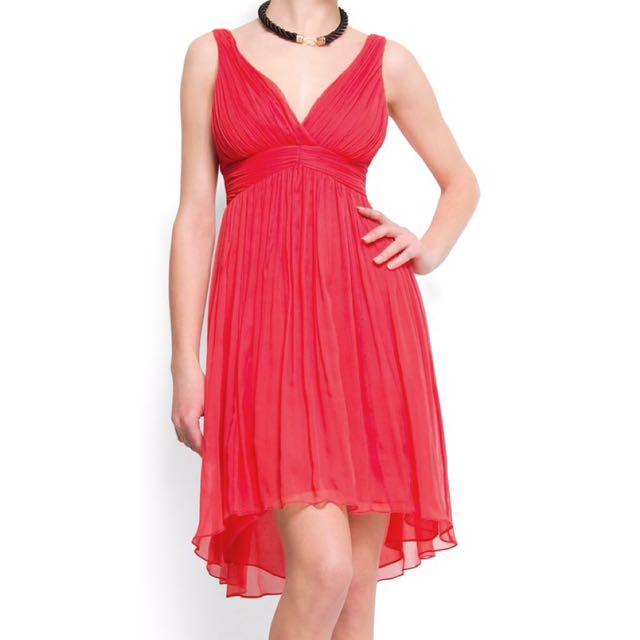 MNG silk chiffon dress