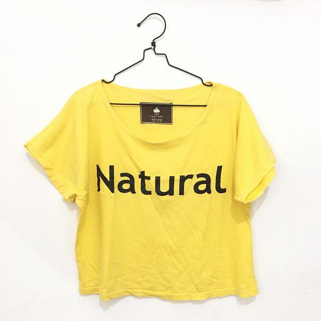 Natural Yellow Crop Top