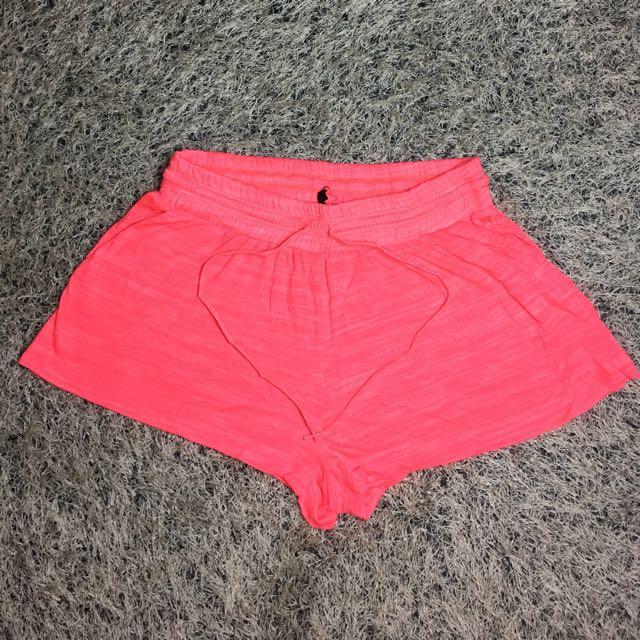 Neon Pink Addidas Sports Short