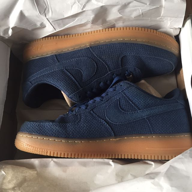 REPRICE - Nike Air Force 1 Navy Suede