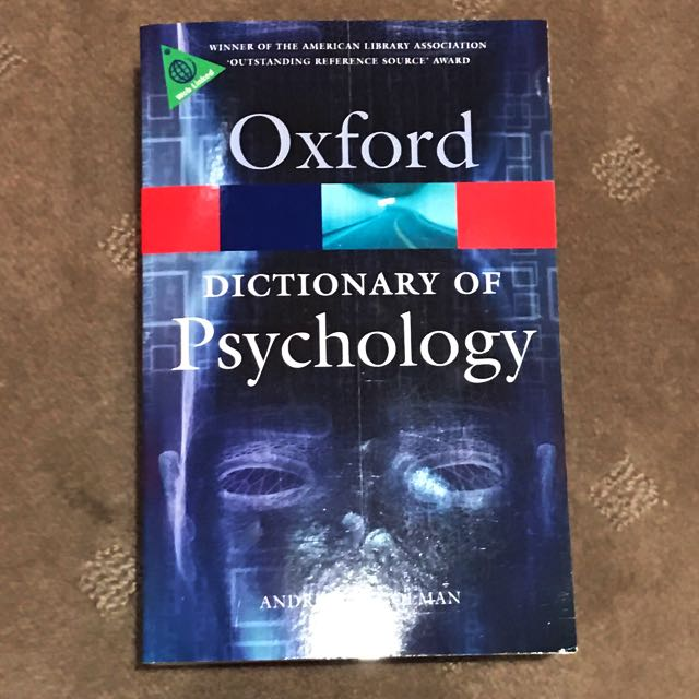 Oxford Psychology Dictionary