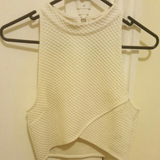 Paint It Red Brand White Crop Size XS