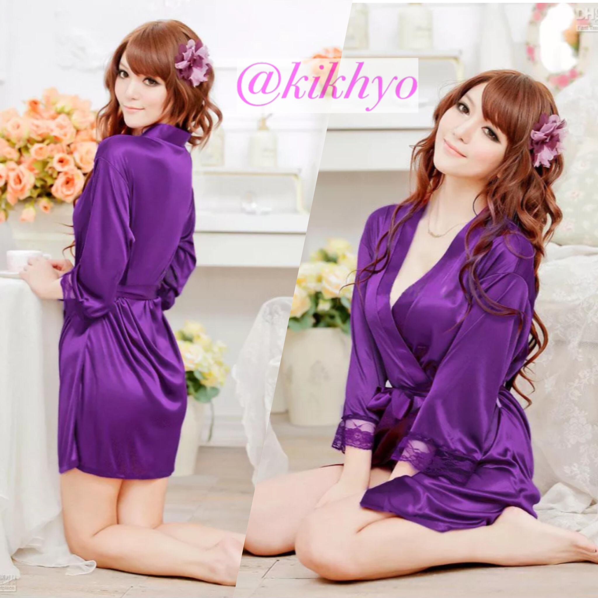 PROMO Sexy Lingerie Kimono Sleepwear G string Baju Tidur Murah Olshop .
