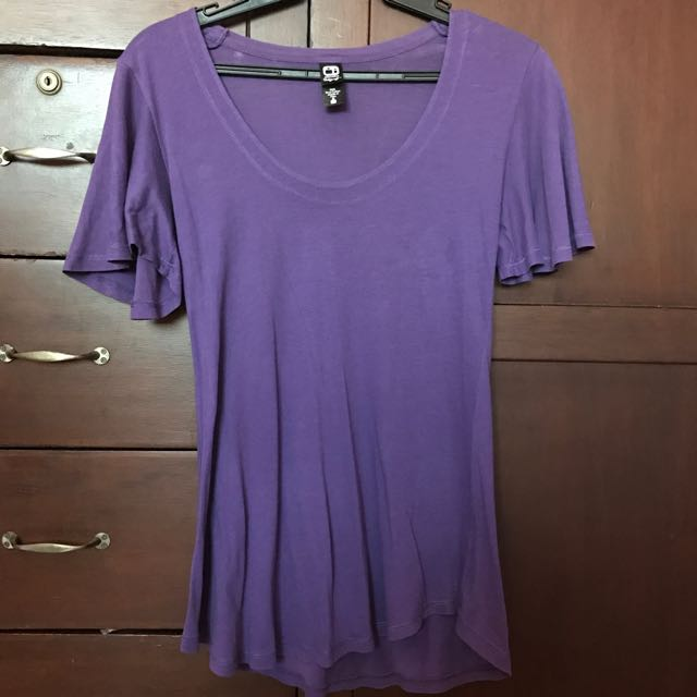 Purple Top With Flared Sleeves