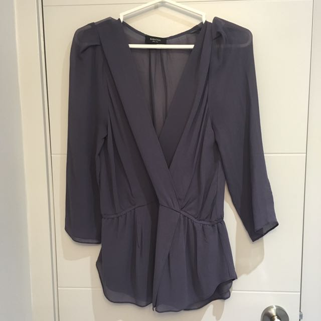 Purple/mauve Aritzia Babaton Top