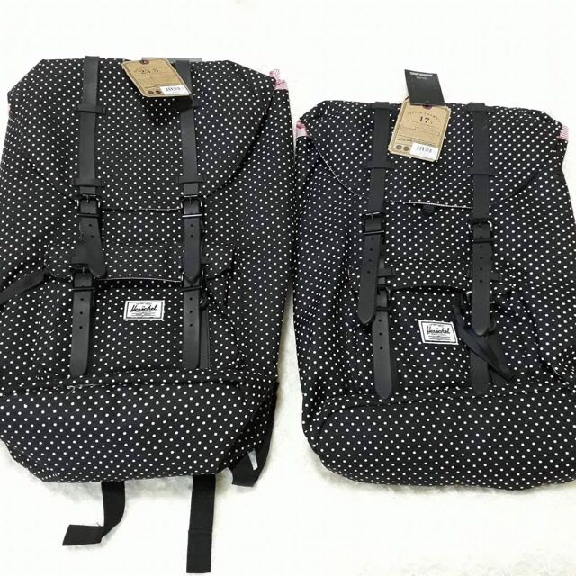 Restock: Herschel Black Polka Dots Little America Backpack