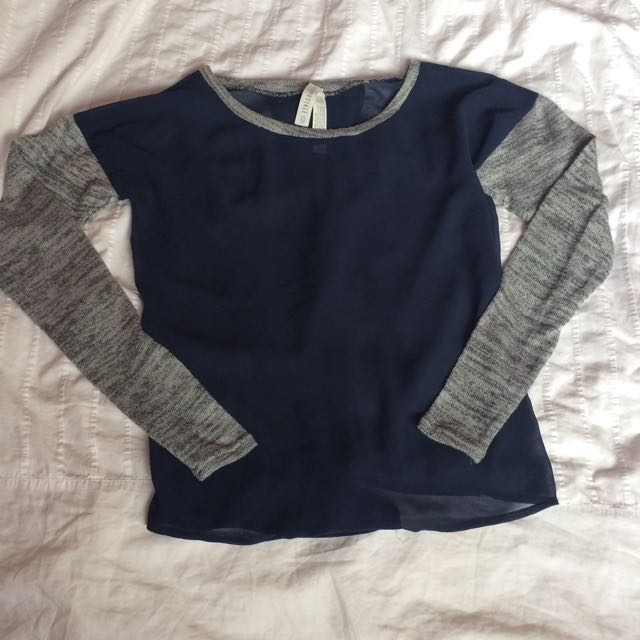 Sheer Navy Blue Aeropostale Top