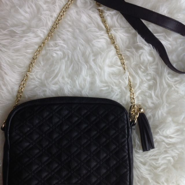 Steve Madden Quilted Purse: Black