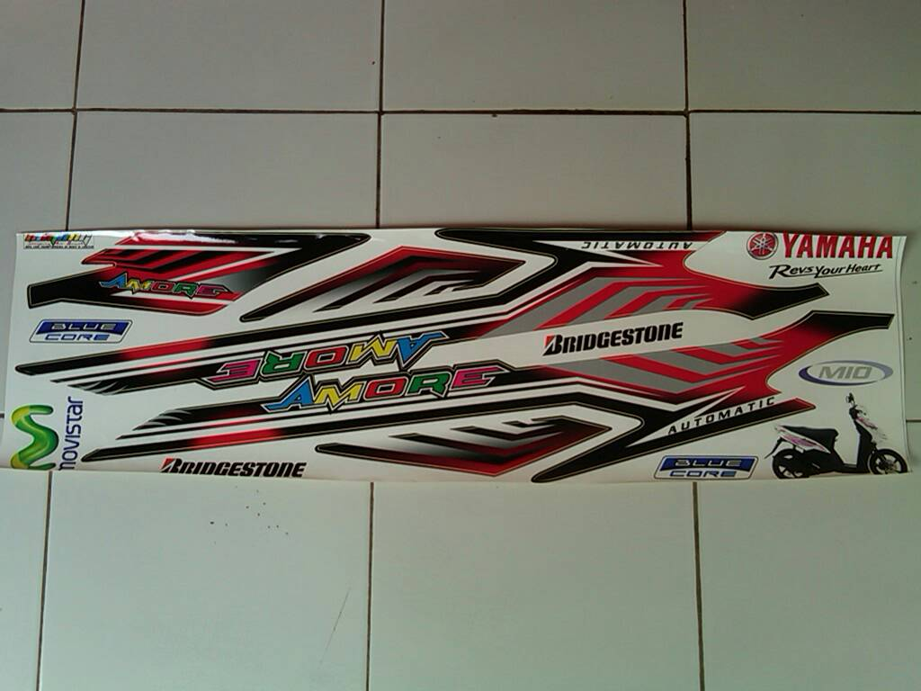Stiker striping motor mio sporty amore list auto accessories on carousell