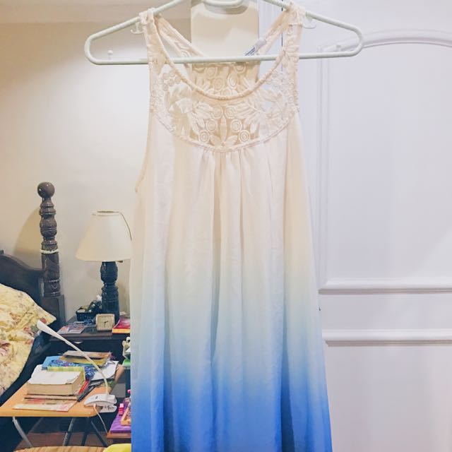 STRADIVARIUS Crocheted Gradient Dress