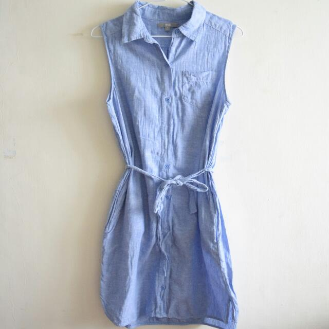 UNIQLO Linen Sleeveless Dress
