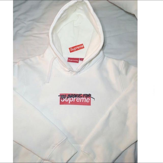 Unisex Supreme 'Too Broke For Supreme' Box Logo Hoodie