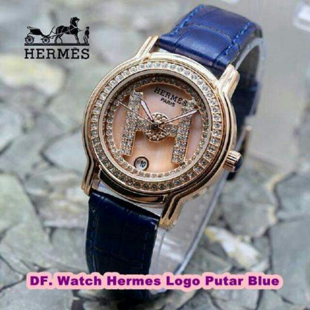 Watch Hermes Logo Putar Blue