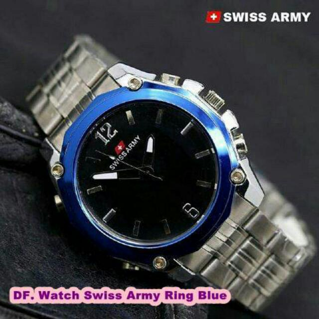 Watch Swiss Army Ring Blue