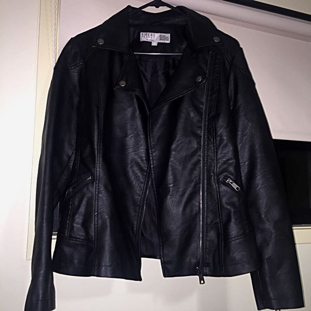 Women's Leather Look Jacket