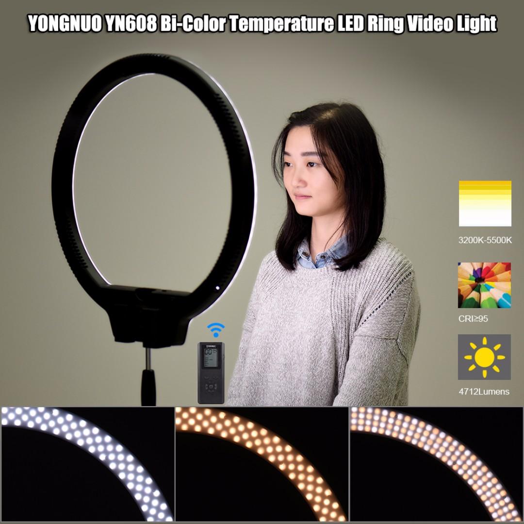 Yongnuo Yn608 Led Ring Light With Remote Control Kamera Di Carousell Parcel Makanan Pja 1606