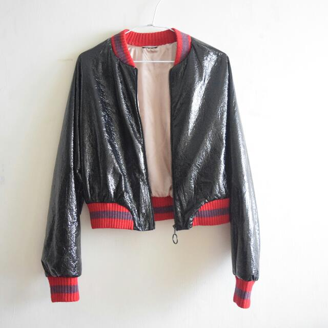 ZARA Metallic Bomber Jacket (Gucci Lookalike)