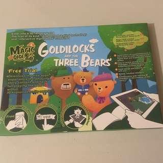 Goldilocks and the Three Bears Augmented Reality digital book