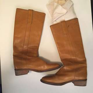 J Crew Italian leather Knee-high Boots