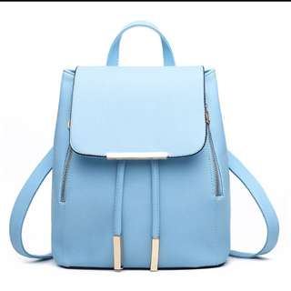 🚚 Blue Backpack With Metal Tab