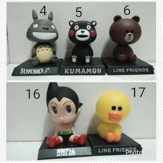 Pajangan Dasbord Mobil Stitch , Doraemon , Angry , Rilakuma ,Astraboy