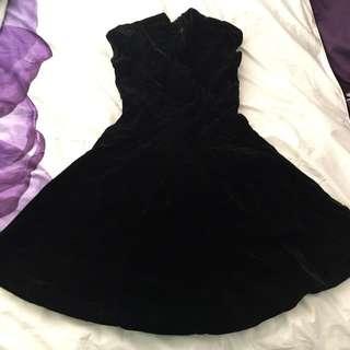 Black Felt Dress