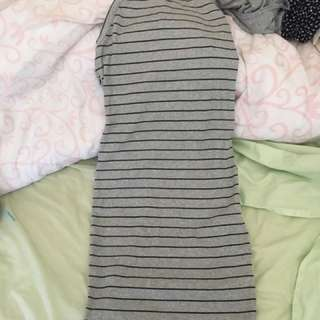 Stripy Boohoo Dress