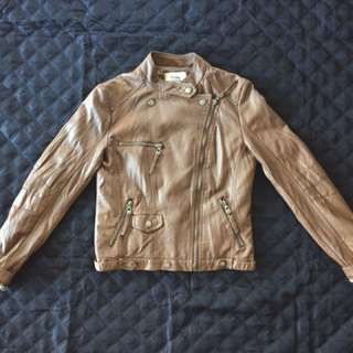 Brown Pleather Jacket Sz Small from Simons