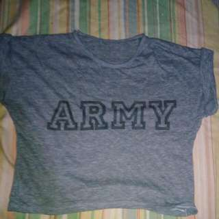 Unbranded ARMY Cropped Top