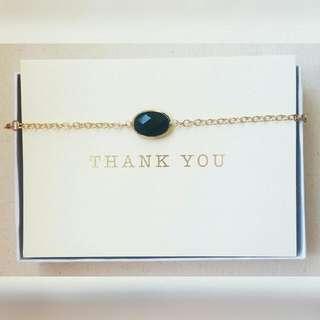 Black Gemstone Necklace Or Bracelet