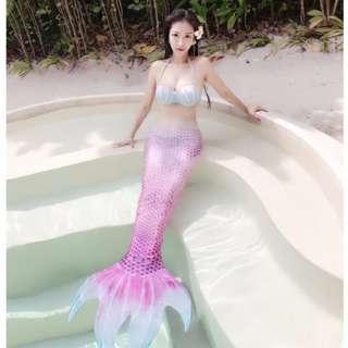 [韓梨Lily♥]珍珠-美人魚腳蹼 真正可以下水游泳的泳衣性感外拍沙灘戲水 罩衫拍照成人,另售兒童