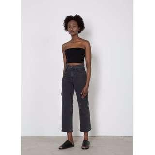 Oak & Fort Black Cut Off Jeans
