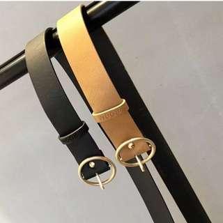 復古金屬環針扣皮帶