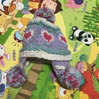 可愛毛球帽