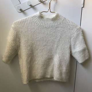 White Short Sleeves Knitwear