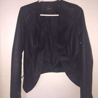 Dynamite Black Faux Leather Jacket