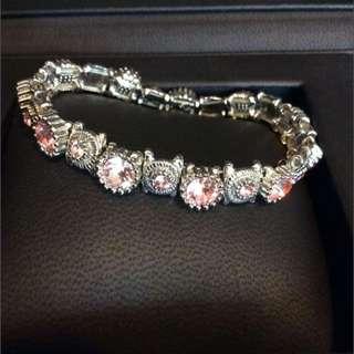 Pink Swarovski Diamond Bracelet