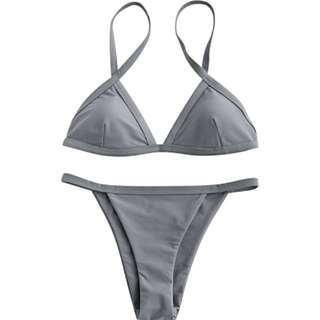 Brand  New Grey Spaghetti Strap Bikini