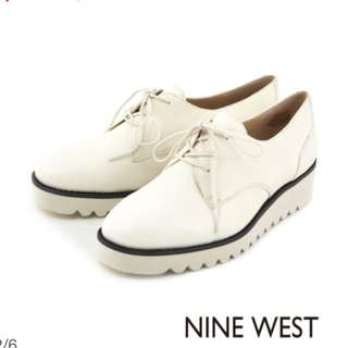 NINE WEST-厚底牛津鞋/鬆糕鞋-白