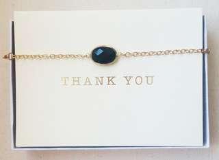 Mother's Day Black Gemstone Necklace/Bracelet