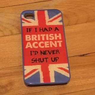 British themed iPhone 4/4s case