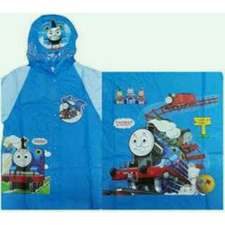Jas Hujan Anak Karakter Thomas The Train / Kids Raincoat