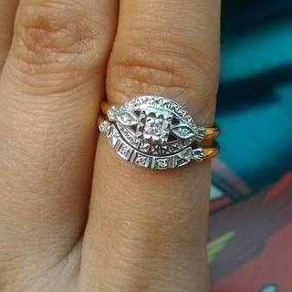 Stylecrest 14k Diamond Vintage Rings Set 2pcs